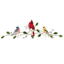 Bovano Songbirds on Dogwood Bough Enameled Copper  Wall Art | W4423