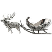 Reindeer Sleigh Centerpiece Bowl | Vagabond House | VHCC113S
