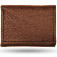 Deerskin All Leather Trifold Wallet