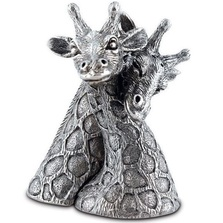 Giraffe Pewter Salt Pepper Shakers | Vagabond House | C116G