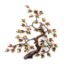 Bovano Maple Tree Autumn Leaves Enameled Copper Wall Art | W91autumn
