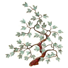 Bovano Maple Tree Patina Leaves Copper Wall Art | W91patina