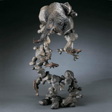 "Bear Bronze Sculpture ""Water's Edge"""