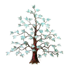 Bovano Maple Tree Patina Brass Leaves Copper Wall Art | W94