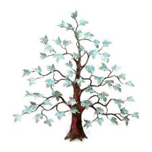 Bovano Maple Tree Patina Brass Leaves Copper Wall Art   W94