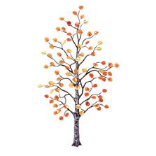Bovano Large Aspen Tree Autumn Leaves Enameled Copper Wall Art   W96
