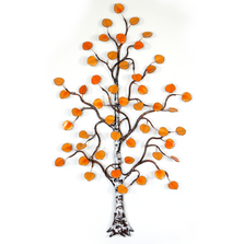 Bovano Small Aspen Tree Autumn Leaves Enameled Copper Wall Art | W99
