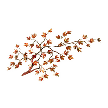 Bovano Maple Branch Autumn Leaves Enameled Copper Wall Art | W100autumn