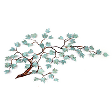 Bovano Maple Branch Patina Leaves Copper Wall Art | W100patina