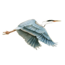 Bovano Heron Flying Single Enameled Copper Wall Art | W303
