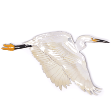 Bovano Flying Single Egret - Large 2 piece Wall Art | W3000EG