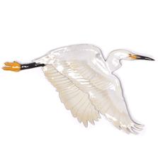 Bovano Flying Single Egret - Large 2 piece Wall Art | W3000EG