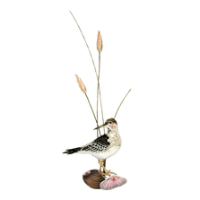 Bovano Sandpiper with Shells Vertical Enameled Copper Wall Art | W324