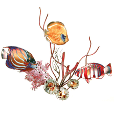 Bovano Blue Ring, Golden Butterflyfish, Harlequin Tusk & Coral Wall Art | W1660