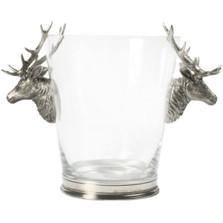 Deer Head Glass Ice Bucket   Vagabond House   D126L