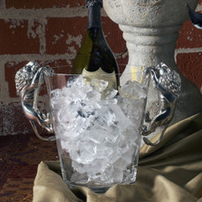 Pewter Lion Ice Bucket | Vagabond House | E126