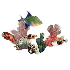 Bovano Queen Trigger, Flame Angel, Trigger, Anemone Wall Art | W1623
