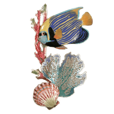 Bovano Emperor Angelfish, Surgeonfish, Branching Coral, Scallop Wall Art | W1612