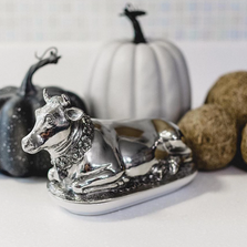 Pewter Cow Butter Dish | Vagabond House | G108C