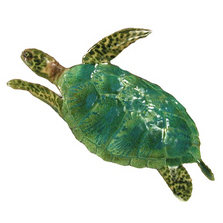 Bovano Single Sea Turtle Small Enameled Copper Wall Art | W627