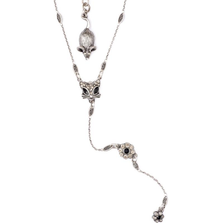 """Glamour Kitty"" Cat Y Necklace 