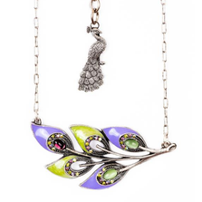 """Proud as a Peacock"" Purple Peacock Feather Necklace 