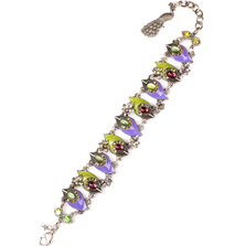 """Proud as a Peacock"" Purple Up and Down Bracelet 