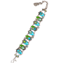"""Proud as a Peacock"" Blue Up and Down Bracelet 
