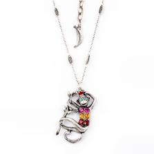 Pave Monkey Pendant Necklace  Nature Jewelry   NK-9703-BM