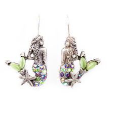 """Under the Sea"" Mermaid Earrings 