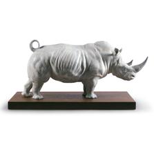 White Rhino Porcelain Figurine | Lladro | 01009285