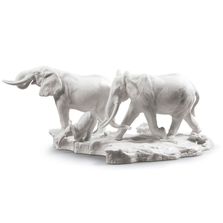 A Stop Along The Way, White Elephants Porcelain Sculpture | Lladro | 01009294