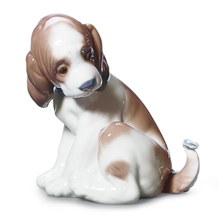 "Dog Porcelain Figurine ""Gentle Surprise"" 