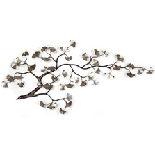 Bovano Gingko Branch Stainless Steel Wall Art | W97SS