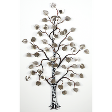 Bovano Stainless Steel Small Aspen Tree Wall Art | W99SS