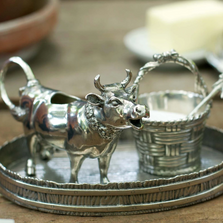 Pewter Cow Creamer Set | Vagabond House | G317M -2