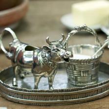 Pewter Cow Creamer Set | Vagabond House | G317M -2