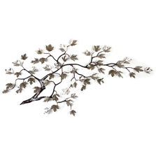 Bovano Maple Branch and Leaves Stainless Steel Wall Art | W100SS