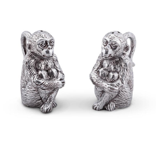 Monkey Salt and Pepper Shakers | Arthur Court Designs | ACD116S13