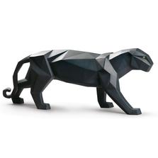 Matte Black Panther Porcelain Figurine | Lladro | 01009299