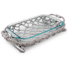 Fish Net Pyrex Casserole Dish | Arthur Court | 428C12