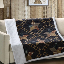 Star Quilted Sherpa Throw Blanket | Paducah Star | DQST615