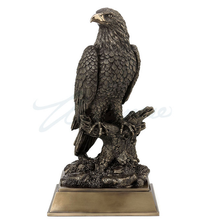 Bald Eagle Sculpture Perching on Tree Branch | Unicorn Studios | WU77398V1