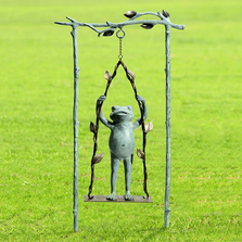 Frog and Swing Garden Sculpture | Daredevil | SPI Home | 34797