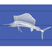 Sailfish Stainless Steel Wall Art | R Mended Metals | 100305