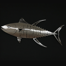 Tuna Stainless Steel Wall Art | R Mended Metals | 101105