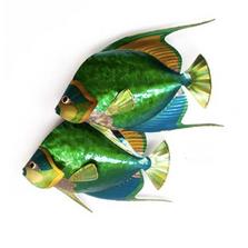 Queen Angelfish Pair Metal Wall Sculpture | TI Design | TICO139