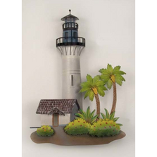 Key West Lighthouse with Palms Metal Wall Sculpture | TI Design | CA768