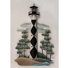 Cape Lookout Lighthouse Replica Metal Wall Sculpture | TI Design | CA789