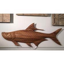Tarpon Hand Carved Wood Wall Sculpture | TI Design | TICW329